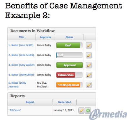 Benefits of Case Management Example 2