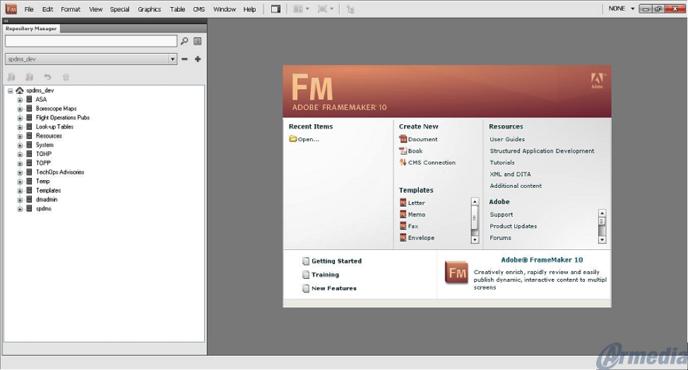 Connection to Documentum Repository from Adobe FrameMaker made