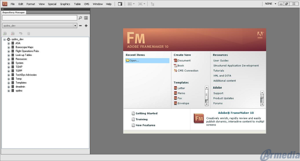 Opening a File through FrameMaker Documentum Integration