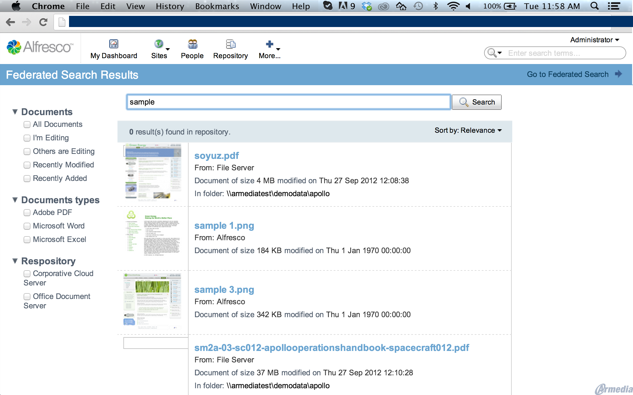 Alfresco_Federated_Search_Resultspage