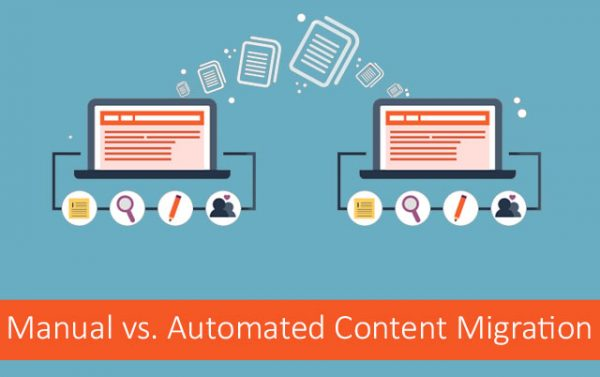manual vs automated content migration