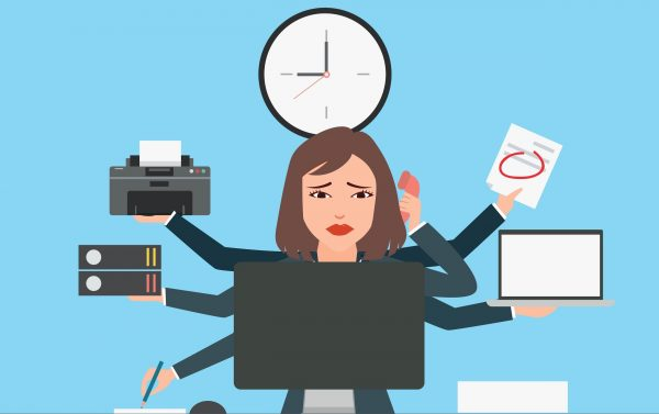 women struggling to finish her job on time she needs FOIA software solution