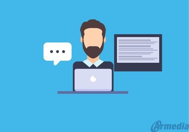 employee putting FOIA information online