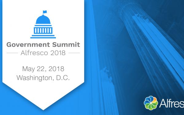 Alfresco Government Summit 2018 cover image