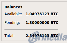 available and pending balances from the overview menu