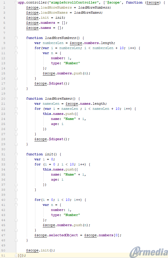 simpleScrollController.js