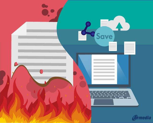 paper-based vs. paperless enterprise content management