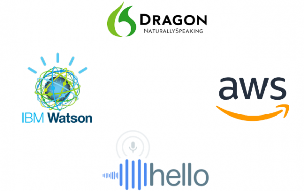 transcription services AWS, Google, IBM, Nuance