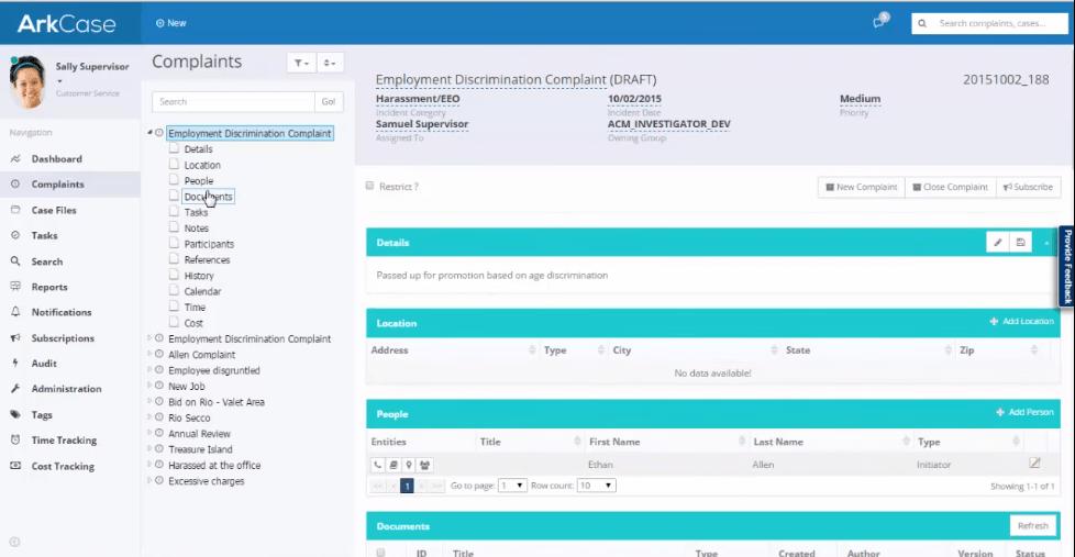 ArkCase case management software