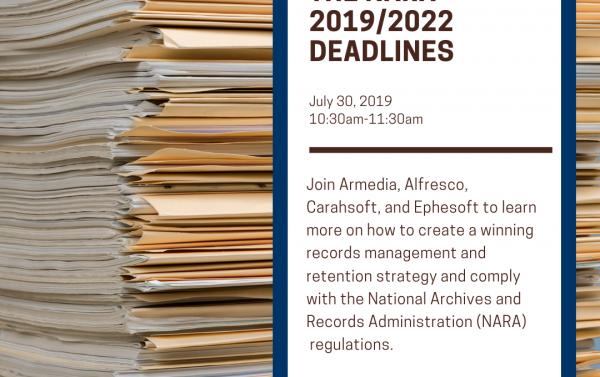 Meet the NARA 2019/2022 deadlines webinar invitation