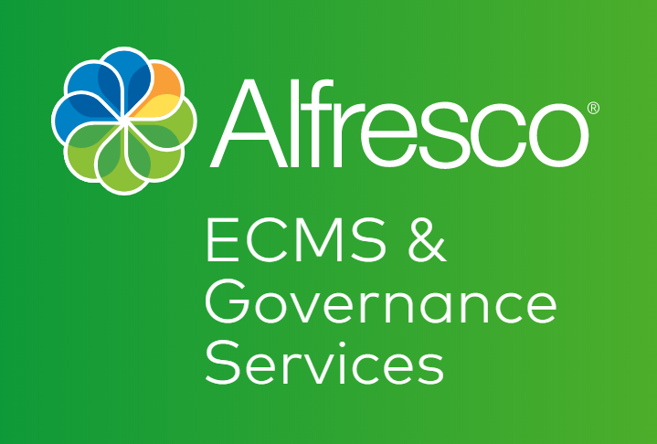 Alfresco enterprise content management and governance services logo
