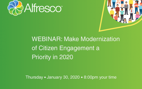 Event webinar: Make modernization of citizen engagement a priority in 2020