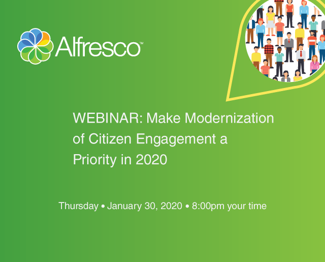 Event webinar: Make modernization of citizen engagement a priority in 2020