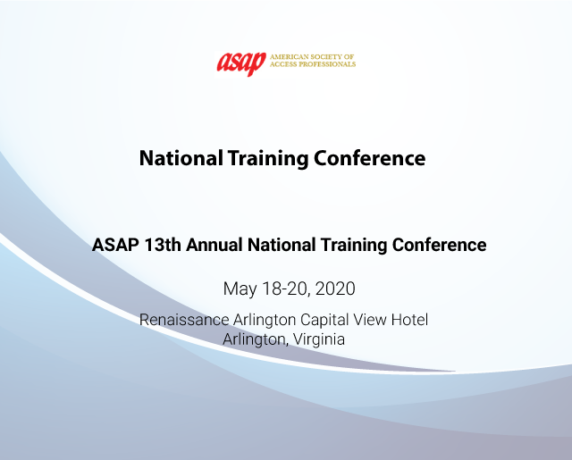 ASAP 13th Annual National Training Conference
