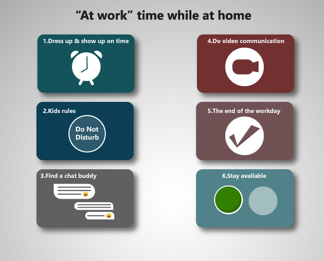 "Tips for the ""at work"" time while at home"