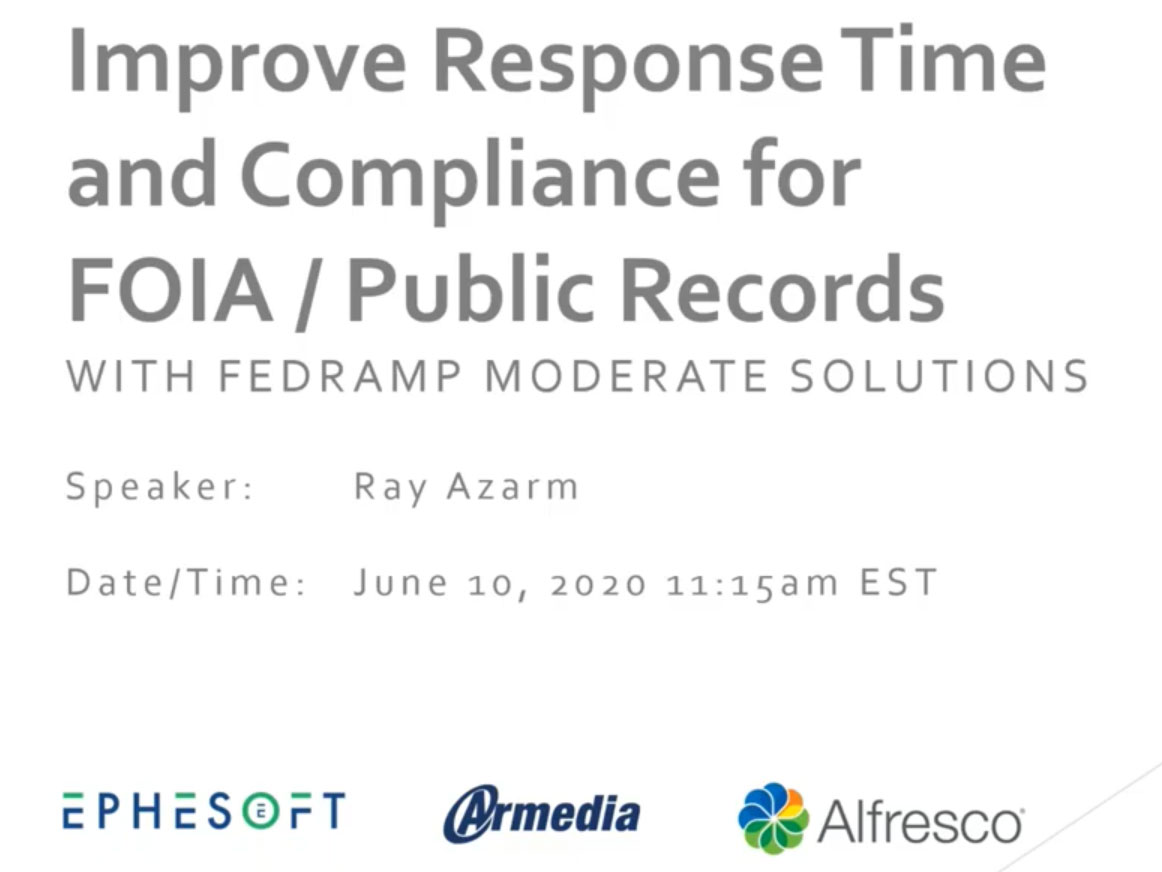 Armedi Modern FOIA Solution-Webinar